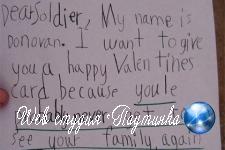 Наивный ребенок «предсказал» смерть солдата в валентинке